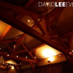 Wedding Lighting in the white hart with Festoons