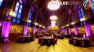 Manchester Town Hall Great Hall with uplighting