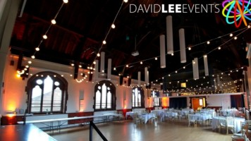 Sandbach Town Hall wedding lighting